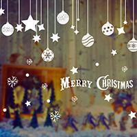Wand-Sticker, PVC Kunststoff, Klebstoff & Weihnachtsschmuck & mit Brief Muster & wasserdicht, 600x450mm, verkauft von PC