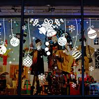 Wand-Sticker, PVC Kunststoff, Klebstoff & Weihnachtsschmuck & wasserdicht, 900x600mm, verkauft von setzen