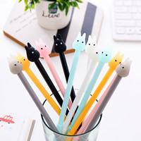 Gel Stift, Kunststoff, Cartoon, schwarze Mine, gemischte Farben, 175mm, 5PCs/Menge, verkauft von Menge