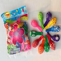 Ballone, LatexMilchsaft, gemischte Farben, 12lnch, 100PCs/Tasche, verkauft von Tasche