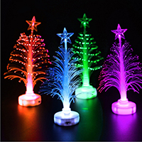 Kunststoff Weihnachtsbaum, mit einem Muster von Stern & Weihnachtsschmuck & LED, 140x38mm, verkauft von PC