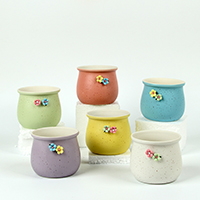 Blumentopf, Porzellan, verschiedene Stile für Wahl & mit Blumenmuster, verkauft von PC