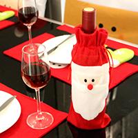 Baumwollsamt Weihnachten Wein Bag, Weihnachtsmann, Weihnachtsschmuck, 310x120mm, verkauft von PC