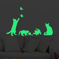 Dekorative Sticker Mode, PVC Kunststoff, Katze, Klebstoff & glänzend, 180x300mm, verkauft von PC