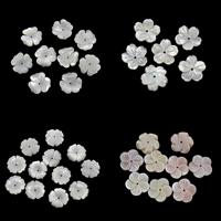 Natürliche Rosa Muschelperlen, Weiße Lippenschale, mit Rosa Muschel, Blume, verschiedene Stile für Wahl, 15x2mm, Bohrung:ca. 1mm, 10PCs/Tasche, verkauft von Tasche