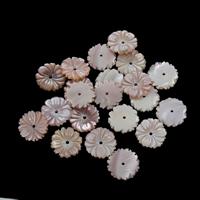 Natürliche Rosa Muschelperlen, Blume, 13x2.5mm, Bohrung:ca. 1mm, 10PCs/Tasche, verkauft von Tasche