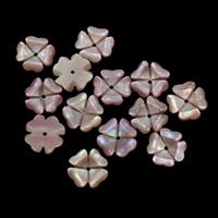 Natürliche Rosa Muschelperlen, Blume, 11x2mm, Bohrung:ca. 1mm, 50PCs/Tasche, verkauft von Tasche