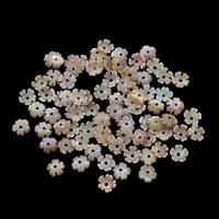 Natürliche Rosa Muschelperlen, Blume, 6x2mm, Bohrung:ca. 0.8mm, 50PCs/Tasche, verkauft von Tasche