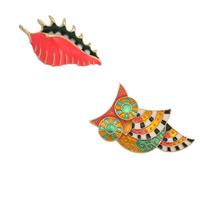 Zinklegierung Broschen, mit Glasperlen, goldfarben plattiert, verschiedene Stile für Wahl & für Frau & Emaille, frei von Nickel, Blei & Kadmium, verkauft von PC