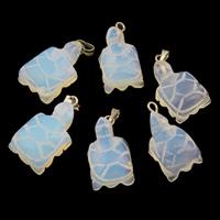 Opal Anhänger, mit Zinklegierung Stiftöse, Schildkröter, 12x21x7.50mm, Bohrung:ca. 2mm, verkauft von PC