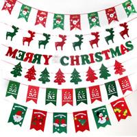 Papier Weihnachten hängende Flagge, mit Nichtgewebte Stoffe, Weihnachtsschmuck & verschiedene Stile für Wahl, 3SträngeStrang/Menge, verkauft von Menge