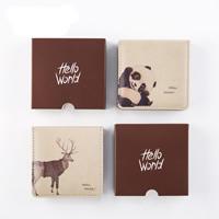 Notizbuch, PU Leder, mit Papier, Rechteck, verschiedene Muster für Wahl, 110x110x30mm, verkauft von PC