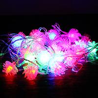 PVC Kunststoff Lampe mit Steckdose, mit Weich-PVC, verschiedene Stile für Wahl & LED, 60mm, 28PCs/Strang, verkauft per ca. 4 m Strang
