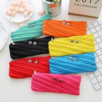 Fashion Pen Tasche, Segeltuch, Rechteck, gemischte Farben, 85x205mm, 5PCs/Menge, verkauft von Menge