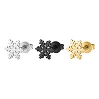 Edelstahl Ohrringe, 316 Edelstahl, Schneeflocke, plattiert, poliert & unisex, keine, 8mm, verkauft von Paar