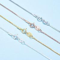 925 Sterling Silber Halskette Kette, plattiert, verschiedene Größen vorhanden, keine, verkauft per ca. 18 ZollInch Strang