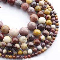 Dotter Stein Perlen, rund, natürlich, verschiedene Größen vorhanden, verkauft per ca. 15 ZollInch Strang