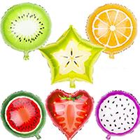 Ballone, Alufolie, ObstFrucht, verschiedene Stile für Wahl, 450x450mm, verkauft von PC