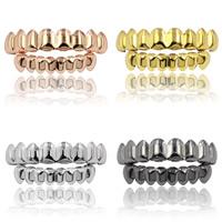 Zähne Hip Hop Schmuck, Messing, Zahn, plattiert, verschiedene Stile für Wahl, 72x12mm,50x10mm, verkauft von setzen