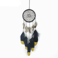 Fashion Dreamcatcher, Feder, mit Wollschnur & Holz, 50cm, verkauft von PC