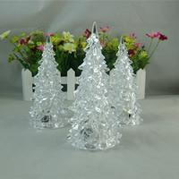 Nachtlampe, Acryl, Weihnachtsbaum, Weihnachtsschmuck & LED, klar, 60x130mm, verkauft von PC