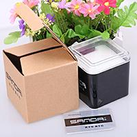 Kunststoff Uhrkasten, schwarz, 90x90x90mm, verkauft von PC