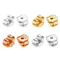 925 Sterling Silber Ohrmutter Zubehör, plattiert, verschiedene Größen vorhanden, keine, 10PaarePärchen/Menge, verkauft von Menge