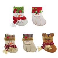 Stoff Weihnachten Socke, Weihnachtsschmuck & verschiedene Stile für Wahl, 100x135mm, verkauft von PC