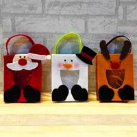 Weihnachtsgeschenkbeutel, Filz, Weihnachtsschmuck & verschiedene Stile für Wahl, 130x260mm, verkauft von PC