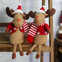 Baumwollsamt Weihnachtselch, Weihnachtsschmuck & verschiedene Stile für Wahl, 100x180mm, verkauft von PC