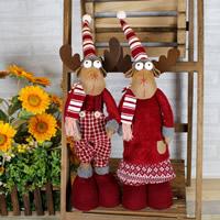 Baumwollsamt Weihnachtselch, abklappbar & Weihnachtsschmuck & verschiedene Stile für Wahl, 250x710mm, verkauft von PC
