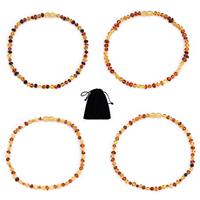 Bernstein Halskette, mit Baumwollsamt, für Kinder & von Australien importieren, keine, verkauft per ca. 12.9 ZollInch Strang