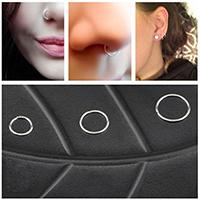 Zink-Legierung Nase Piercing-Schmuck, Zinklegierung, Kreisring, plattiert, unisex & verschiedene Größen vorhanden, keine, 6mm, 8mm, 10mm, 100PCs/Menge, verkauft von Menge