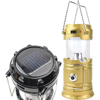 Tragbare Taschenlampe, Kunststoff, mit Glas & Edelstahl, Solar angetrieben & abklappbar & LED & wasserdicht, 90x190mm, 90x130mm, 75mm, verkauft von PC