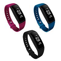 TROZUM® Smart Watch , Harz, mit Kunststoff & Glas & Edelstahl, plattiert, Herzfrequenzmessung & monatóireacht a dhéanamh ar codlata & pedometer 3D & Touch-screen & wasserdicht, keine, 33x12mm, Länge:ca. 9.8 ZollInch, verkauft von PC