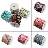 Seiltuchschnur, Stoff, mit Kunststoffspule, verschiedene Muster für Wahl, 7x5cm, 20m/Spule, verkauft von Spule