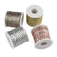 Lederband, PU Leder, mit Kunststoffspule, keine, 7x2mm, 10m/Spule, verkauft von Spule