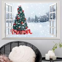 3D Wandaufkleber, PVC Kunststoff, Rechteck, Klebstoff & Weihnachtsschmuck & wasserdicht, 485x720mm, verkauft von setzen