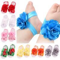 Baby Barefoot Sandalen, Stoff, mit Spitze, für Kinder, keine, 5cm, 2PCs/setzen, verkauft von setzen