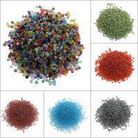 Gemischte Glas Rocailles, Glas-Rocailles, rund, keine, 1.9x2mm, Bohrung:ca. 0.5mm, ca. 3000PCs/Tasche, verkauft von Tasche