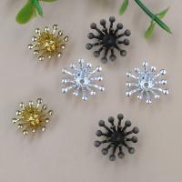 Messing Perlenkappe, Blume, plattiert, keine, frei von Nickel, Blei & Kadmium, 13mm, Bohrung:ca. 1.5mm, 100PCs/Tasche, verkauft von Tasche