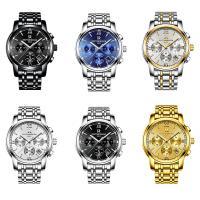 ONTHEEDGE®-Männer-Schmuck-Uhren, 316 L Edelstahl, mit Glas, plattiert, 30 m wasserdicht & für den Menschen & glänzend, keine, 41x10mm, 20mm, Länge:ca. 9.4 ZollInch, verkauft von PC