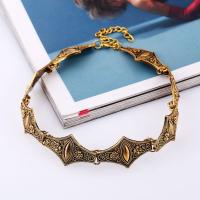 Mode-Halskette, Zinklegierung, mit Verlängerungskettchen von 6cm, plattiert, für Frau, keine, frei von Blei & Kadmium, 60mm, verkauft per ca. 11.5 ZollInch Strang