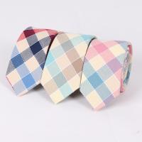 Krawatten, Baumwolle, Pfeilspitze, Jacquard, Gittermuster & für den Menschen, keine, 65x1460mm, 35mm, verkauft von Strang
