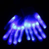 Handschuhe, Nylon, Halloween Schmuck & LED, blau, 230mm, verkauft von Paar