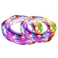 PVC Kunststoff LED-Weihnachtslicht, mit Messingdraht, Weihnachtsschmuck, keine, 200cm, 2StrangStrang/Tasche, verkauft von Tasche