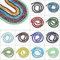 Kristall-Perlen, Kristall, bunte versilbert & Volltonfarbe, gemischte Farben, Bohrung:ca. 1mm, Länge:ca. 15 ZollInch, 10SträngeStrang/Tasche, verkauft von Tasche