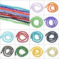 Kristall-Perlen, Kristall, transparent & verschiedene Größen vorhanden & bunte versilbert, gemischte Farben, Bohrung:ca. 1mm, Länge:ca. 15 ZollInch, 10SträngeStrang/Tasche, verkauft von Tasche