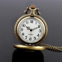 Mode Halskette Uhr, Zinklegierung, Messing antik Farbe überzogen, unisex & Twist oval, 42mm, 215mm, verkauft per ca. 8 ZollInch Strang