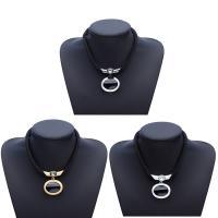 Harz Halskette, Zinklegierung, mit Harz, mit Verlängerungskettchen von 7cm, plattiert, für Frau, keine, frei von Blei & Kadmium, 42mm, verkauft per ca. 16.5 ZollInch Strang